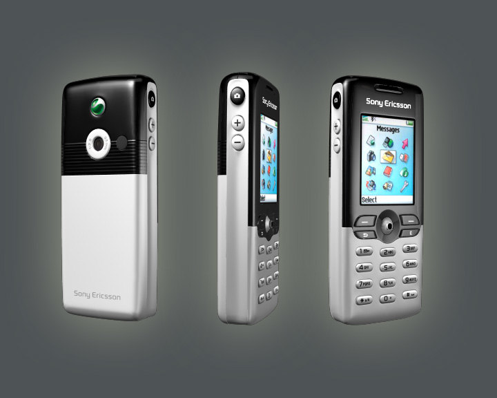3d sony ericsson t610 mobile phone model