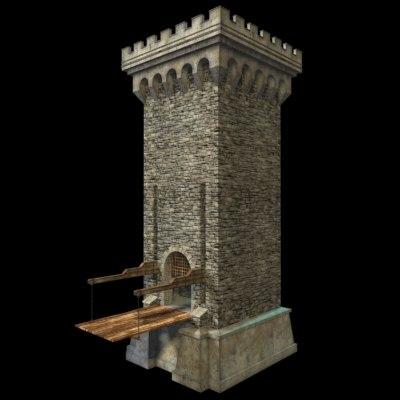 gatehouse drachmeister castle 3d model