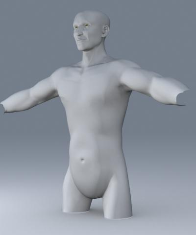 3d editable male character model