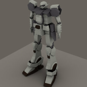 mech gundam 3d model