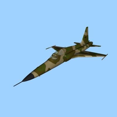 3dsmax f5 fighter aircraft