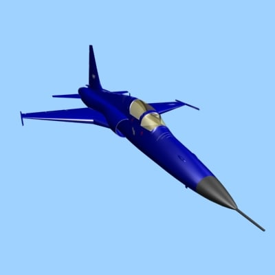 3d f5 fighter aircraft model