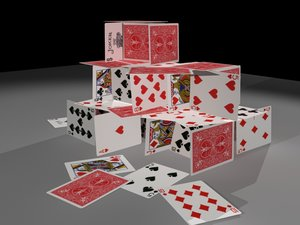 house playing cards 3d model