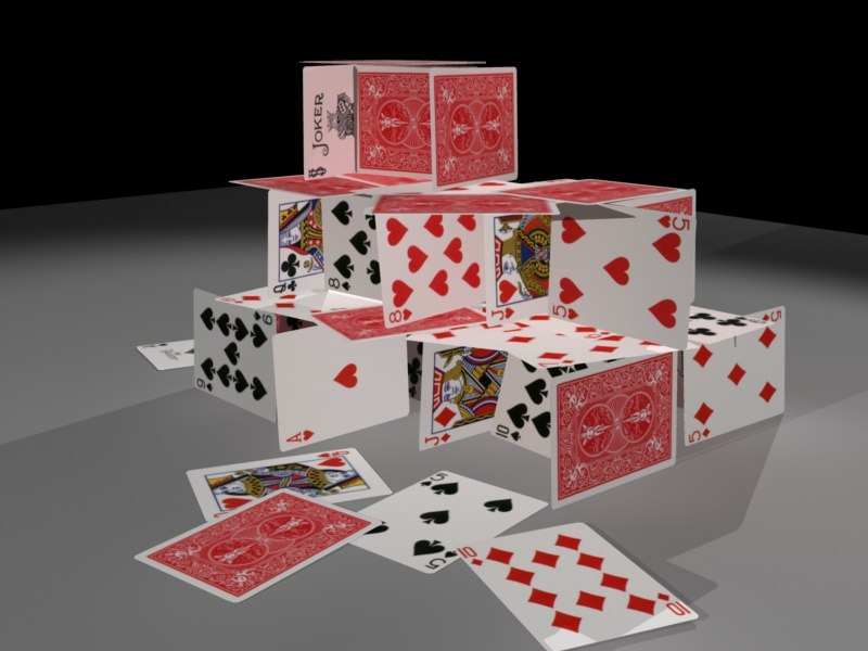 Image result for image of a house of playing cards
