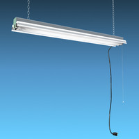 3d fluorescent light fixture model
