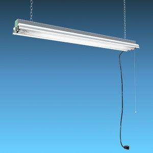 3d fluorescent light fixture model