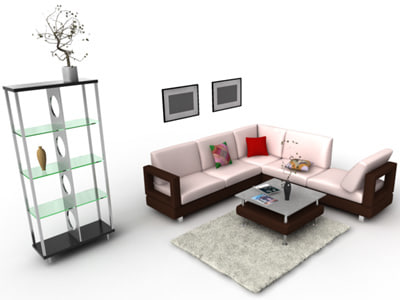 furniture set 3d model