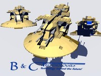 lego trade federation 3d model