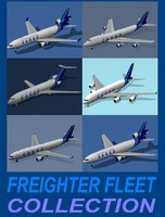 3d model freighter fleet airbus a380-800