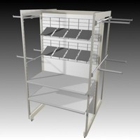 3d clothes rail model