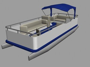 3d model pontoon