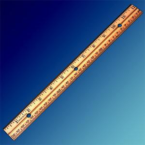 wooden ruler obj
