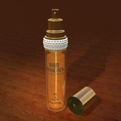 white diamonds perfume bottle 3ds