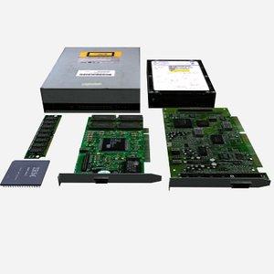 obj computer parts polys memory