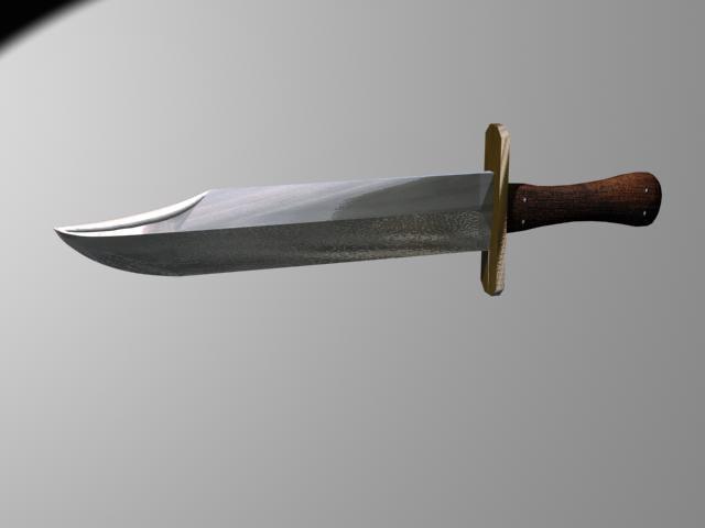 3d bowie knife