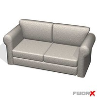 sofa loveseat 3d max