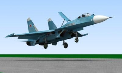 su-27 low-poly 3d model