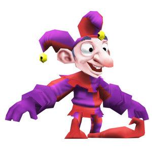 3d model jester cartoon