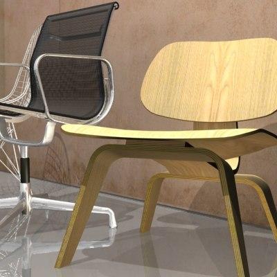 eames chair 3d max