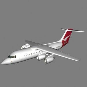 modern jet air plane 3d 3ds