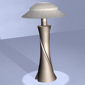 3d model brazz lamp