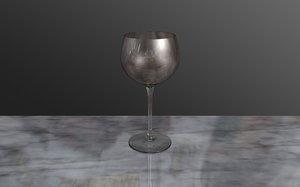 free c4d model wine glass