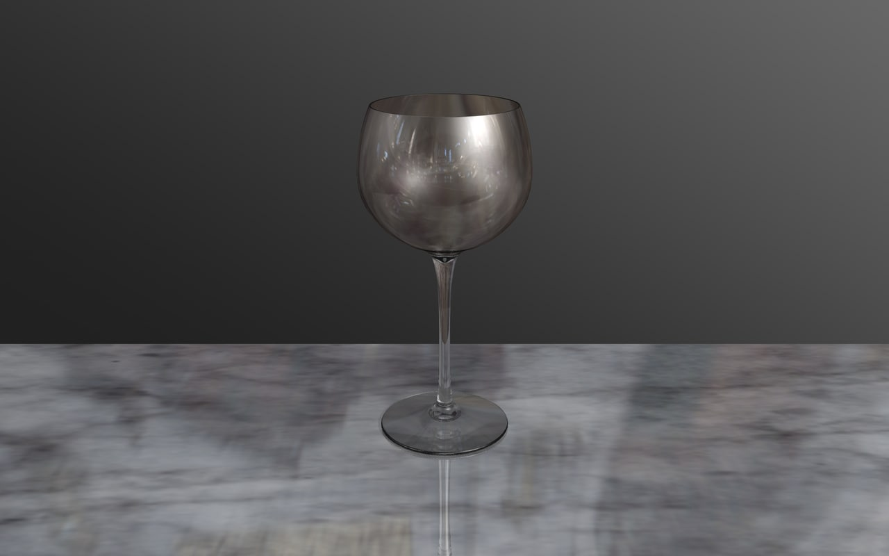 free c4d model wine glass
