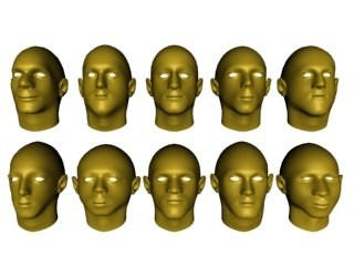 3ds max 10 male mesh heads