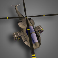 free helicopter aircraft 3d model