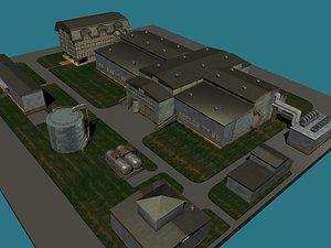 factory buildings 3d model