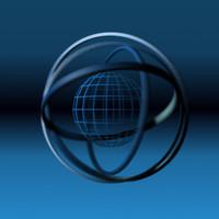 spinning wireframe globe 3d model