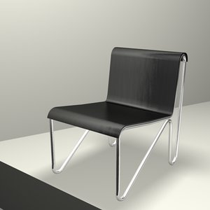rietveld chair c4d