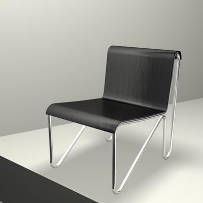 rietveld chair c4d