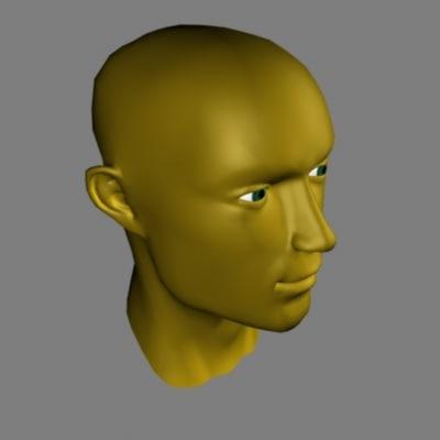 man s head max