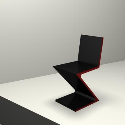 cinema4d chair gerrit rietveld