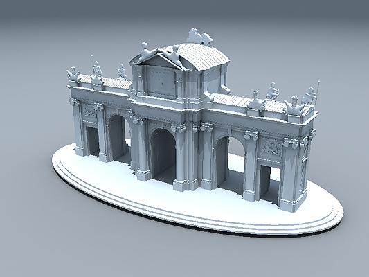 puerta alcala 3d model
