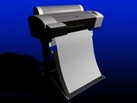 epson 7600 printer 3d model