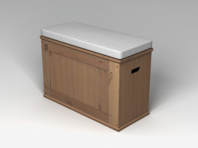 ikea alve storage bench 3d model