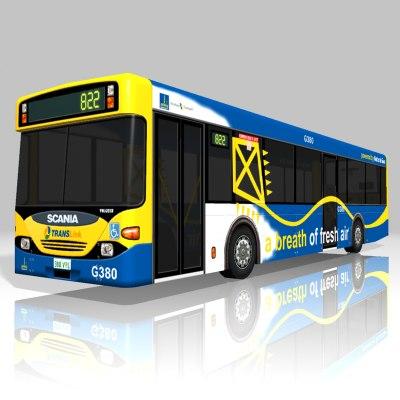scania bus construct3d 3d model