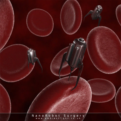 red blood cells nanobot 3d model