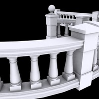 balustrade balcony 3ds