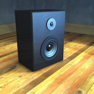 speaker sub 3d max