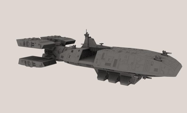 lightwave spaceship