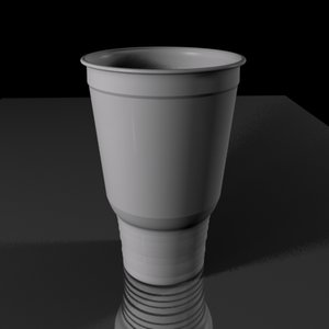 large fast food cup 3d model