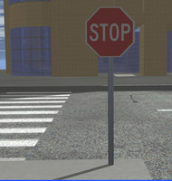 stop stopsign sign 3d model