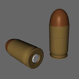 bullet ammo ammunition 3d model