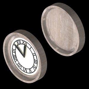 3d model future clock