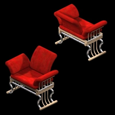red chair 3d max