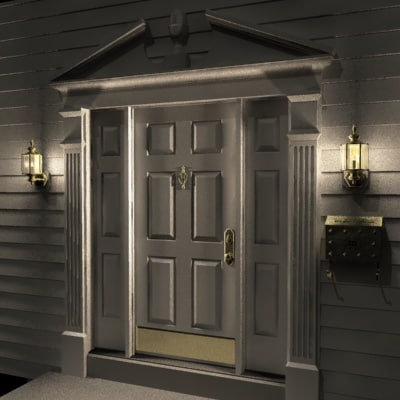 residential brass door 3ds