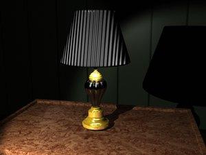 lamp brass lwo